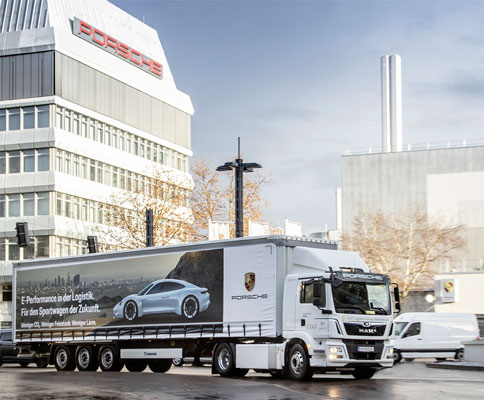 Porsche opta por eTGM da MAN para uma logística amiga do ambiente