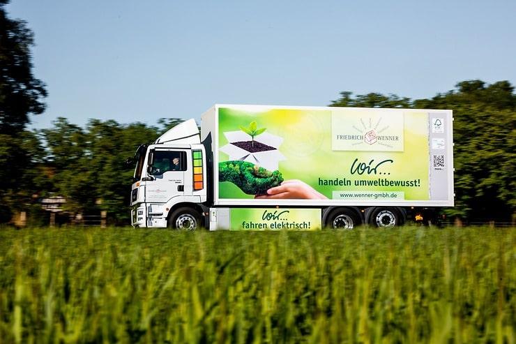 Sem emissões e silencioso – camião elétrico MAN