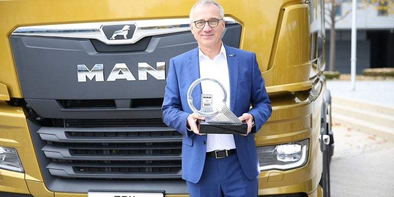MAN TGX PREMIADO COMO TRUCK OF THE YEAR 2021!